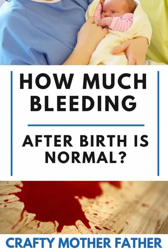 how much will I bleed postpartum after giving birth?