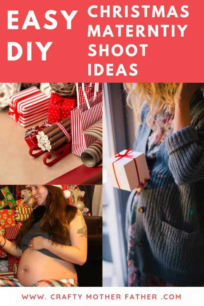 Christmas maternity photo shoot ideas to try that you can easily DIY