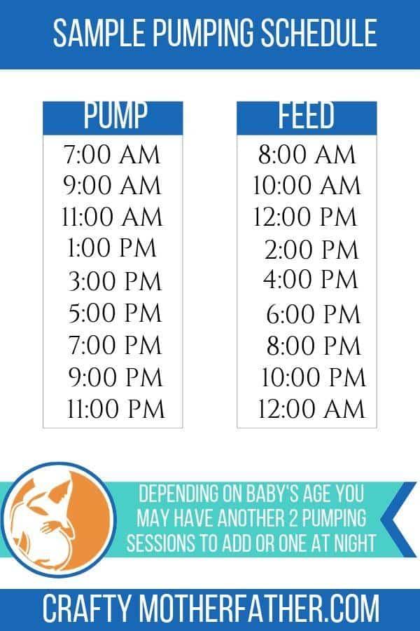 pumping schedule feeding schedule