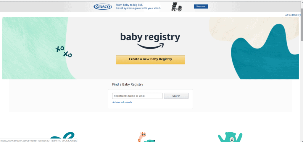 How to create a baby registry from amazon and get the amazon baby welcome box