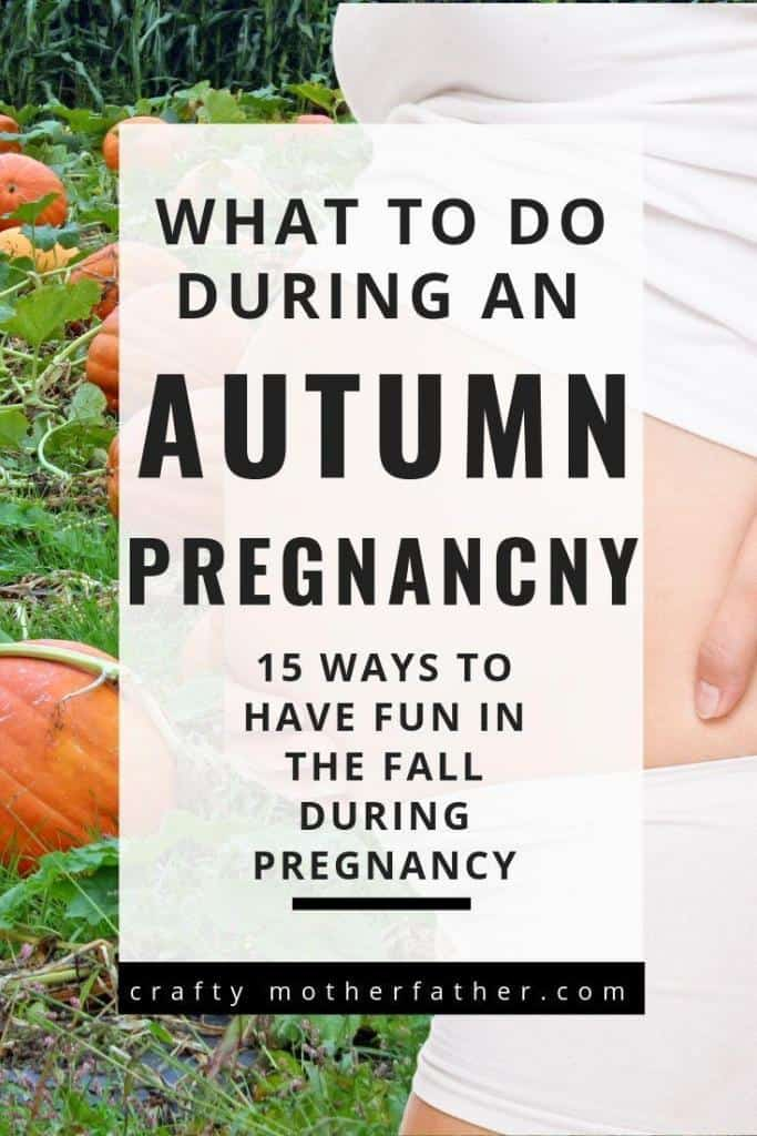 pregnant autumn activities in the fall season