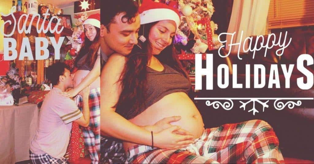 holiday pictures during pregnancy that I can take at home