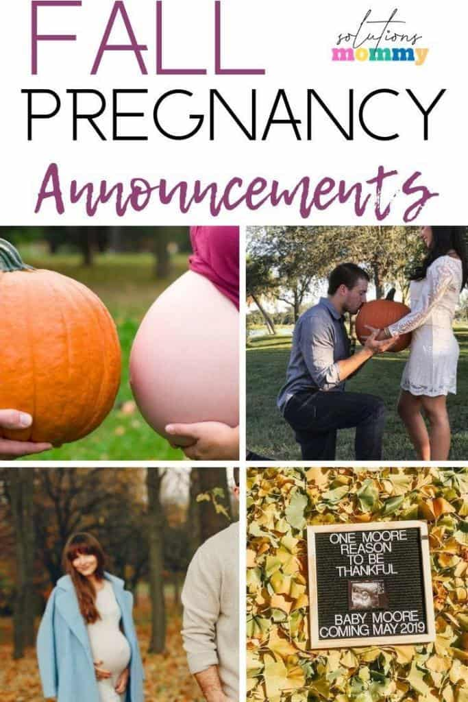 the best fall pregnancy announcements