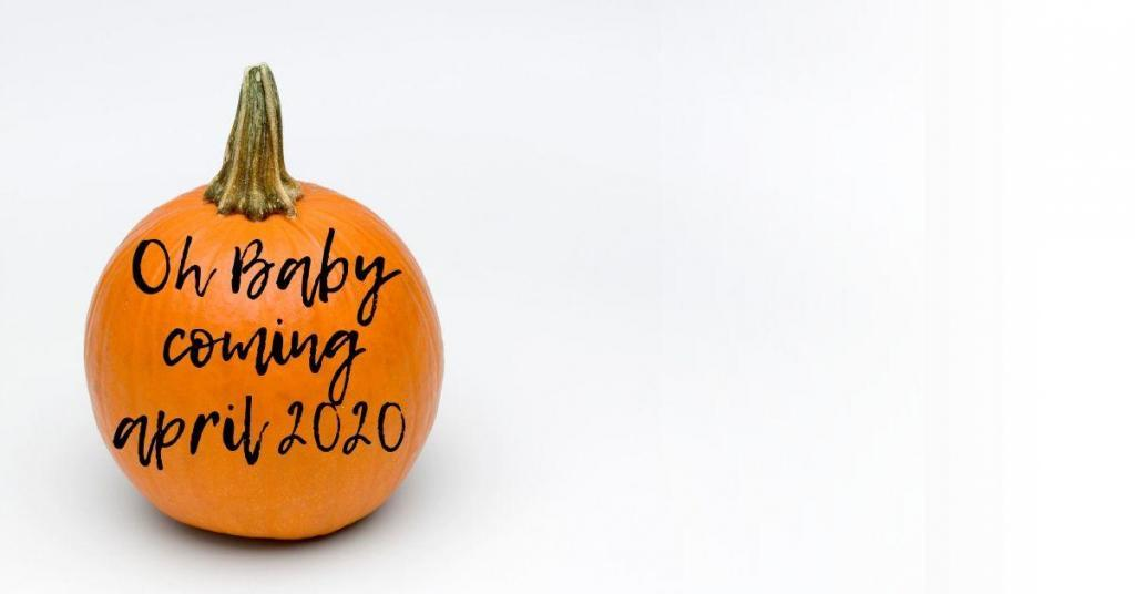 Oh baby pumpkin arriving soon fall pregnancy announcements baby announcements