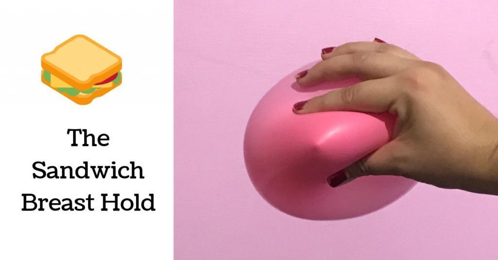 the breast nipple sandwich for breastfeeding