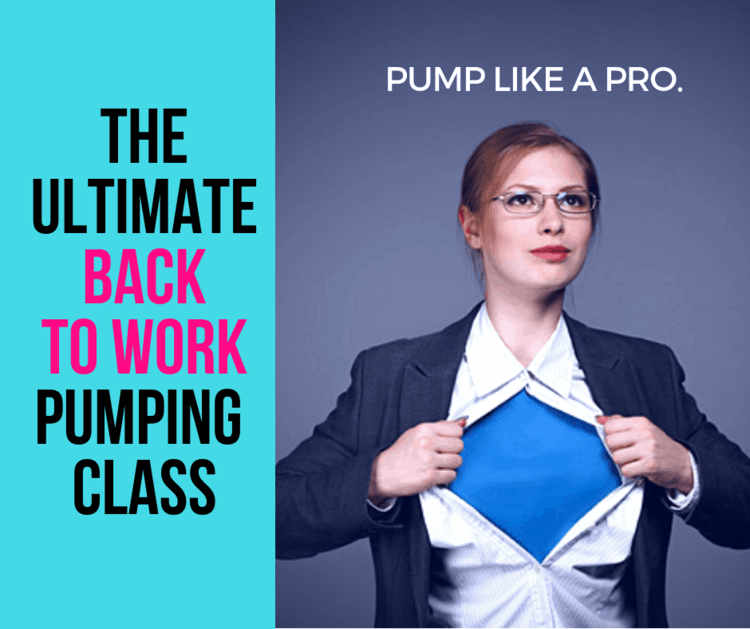 best pumping at work tips for new moms is to take a class that will tell you exactly what to do when you go back to work