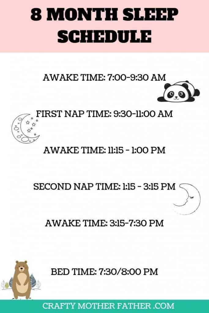 8 month sleep schedule for new moms