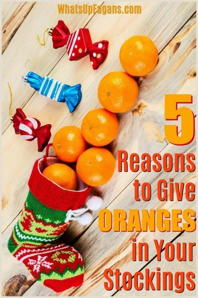 oranges in Christmas stockings image