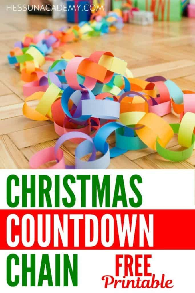 Christmas count down chain