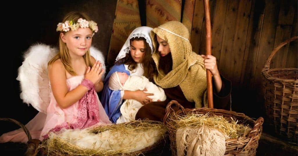 wearing nativity costumes with your family during the holidays