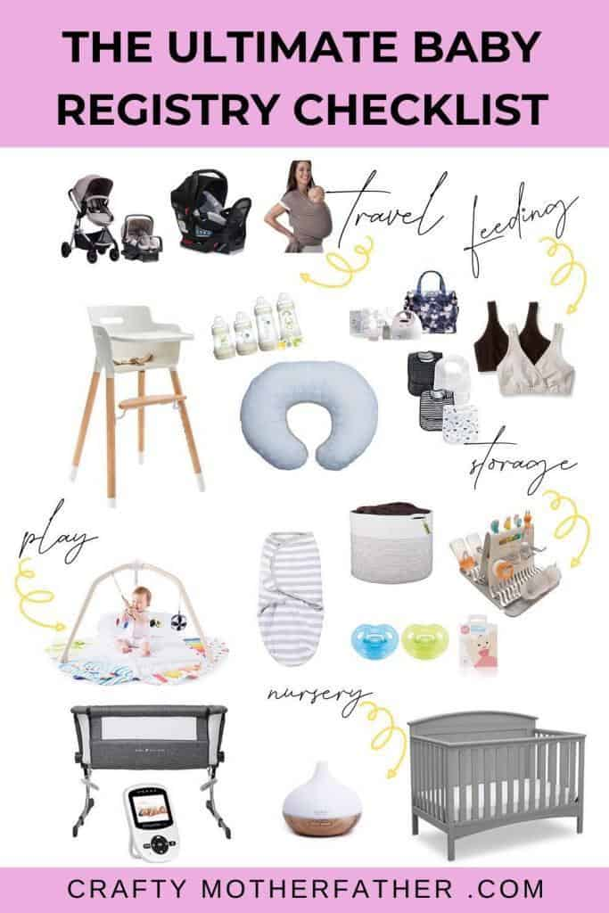 the ultimate baby registry checklist for firs time moms