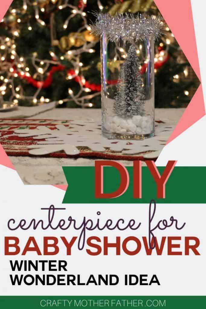 winter wonderland baby shower centerpiece idea