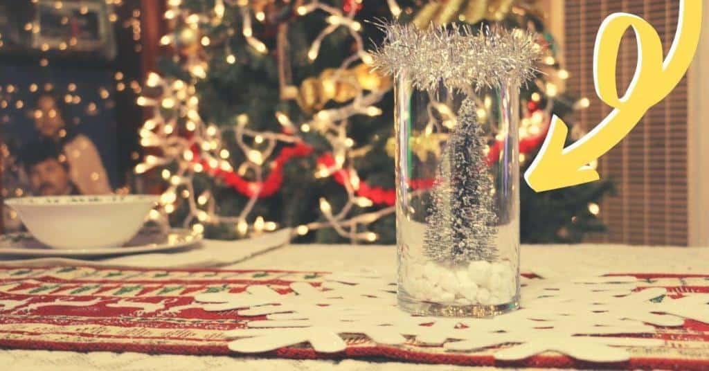 beautiful easy simple diy winter wonderland baby shower centerpiece