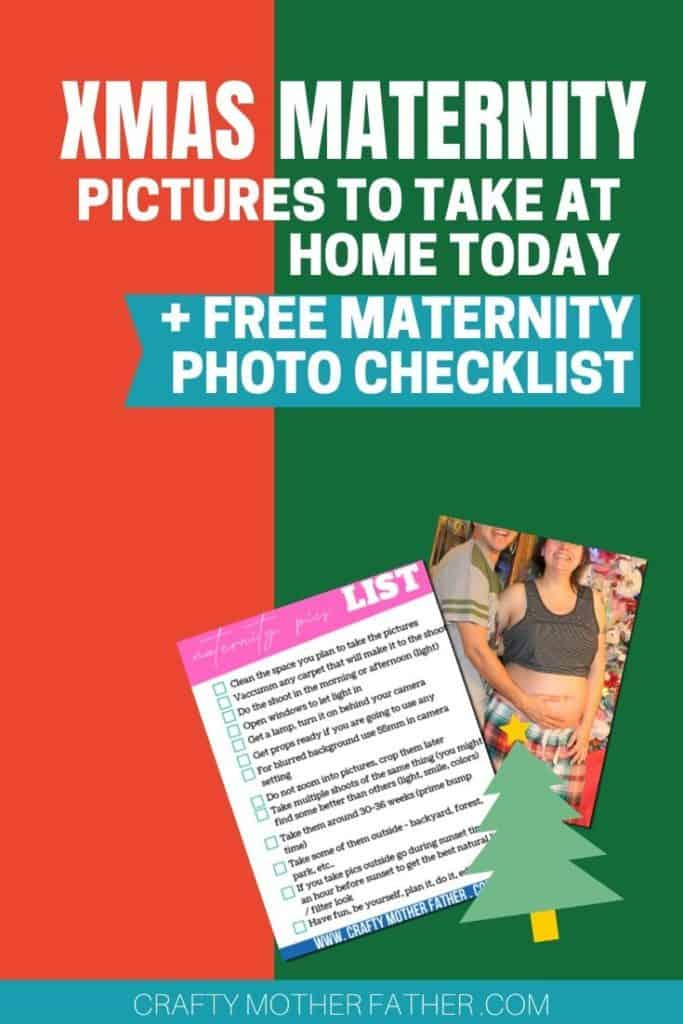 christmas maternity pictures ideas