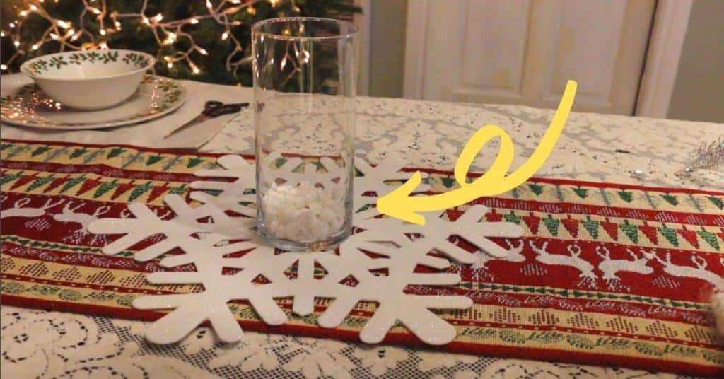 how to make a simple minimalist baby shower centerpiece for winter theme baby shower