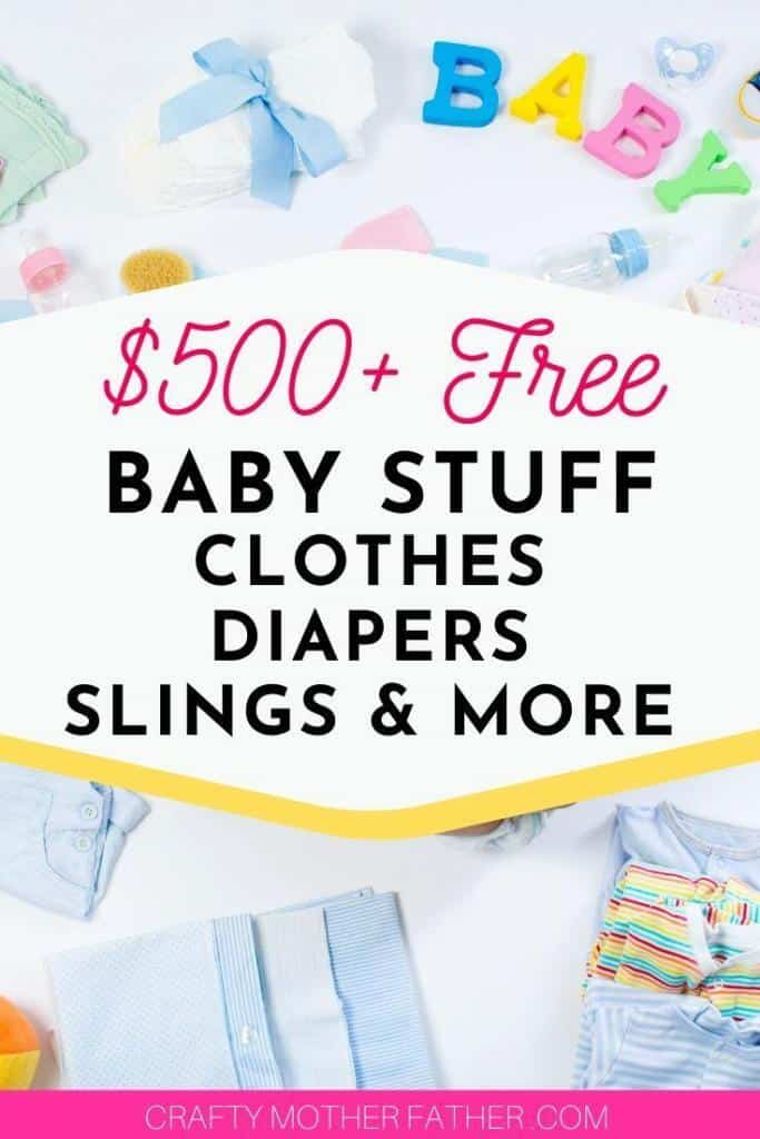 500 bucks worth of free baby stuff like clothes, diapers and slings