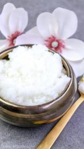 cotton blossom sugar scrub to give as the best gift for mothers day that you can diy