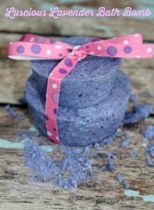learn how to make a lavender bath bomb as  diy mother's day gift