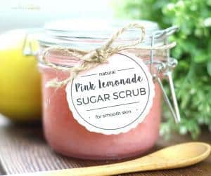 how to diy a pink lemonade sugar scrub for a diy mothers day gift this holiday to celebrate mom