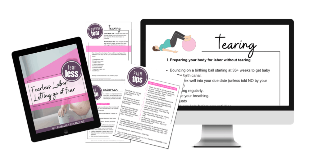 the fearless labor letting go of fear guide is made to help moms conquer the fear surrounding chilldbirth