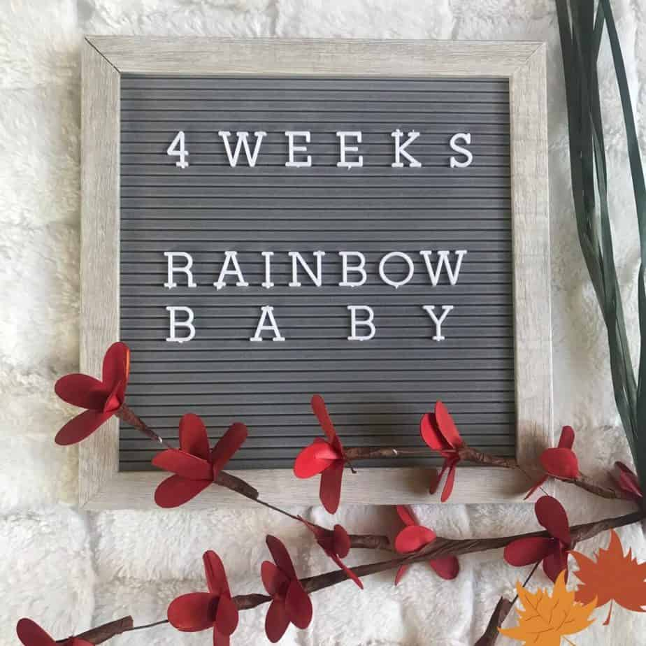 rainbow baby pregnancy announcement 4 weeks of pregnancy