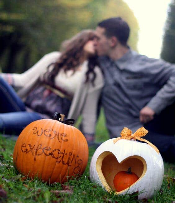easy pumpkin pregnancy announcements to the world for instagram