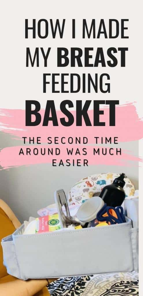 how to make a breastfeeding basket | How I made my breastfeeding basket the second time around was much easier