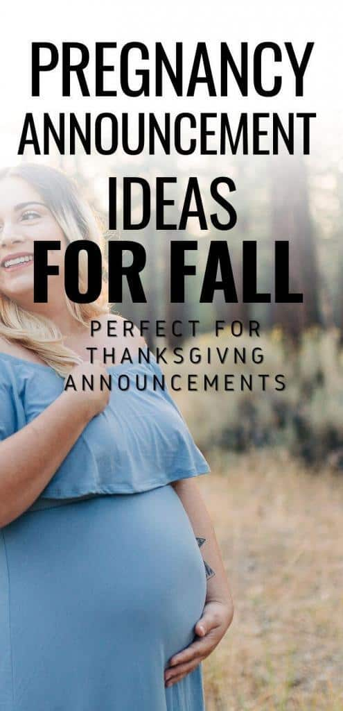 the best pregnancy announcements for the fall and holiday season