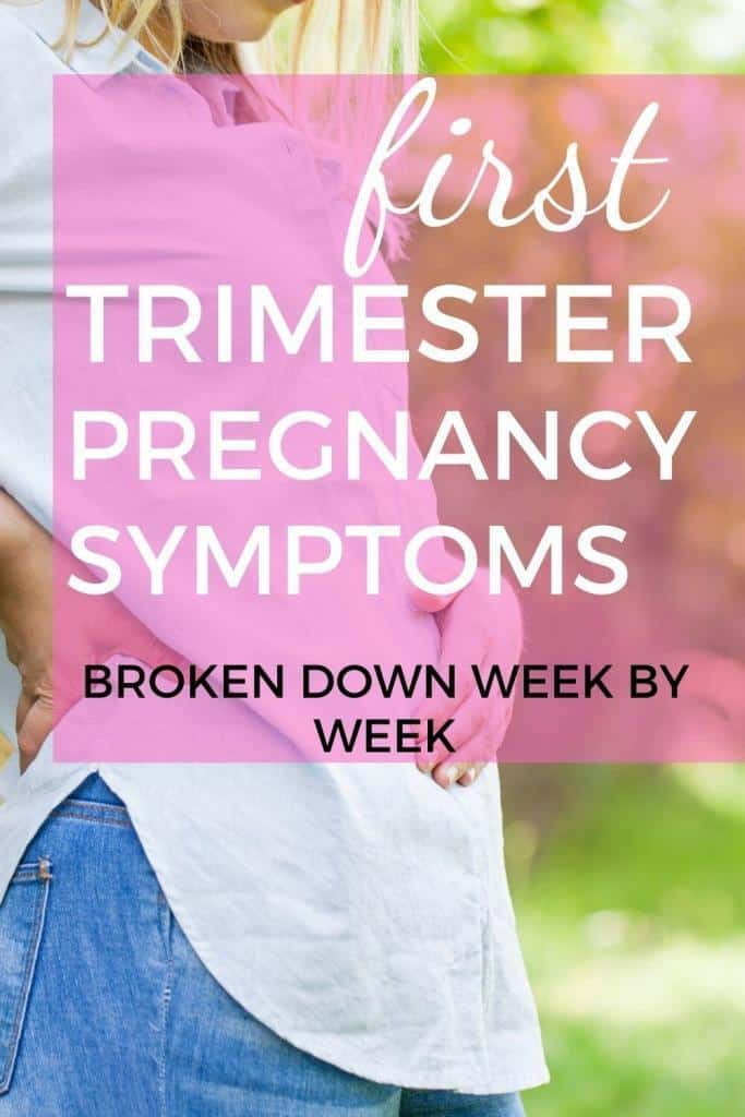 what are early pregnancy symptoms in the first trimester