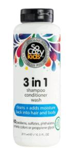 SoCozy 3-in-1 Shampoo + Conditioner + Body Wash for Kids